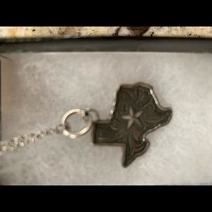 Silver Texas Rockin Out necklace